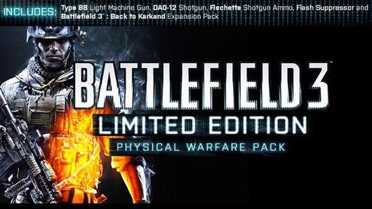 Battlefield 3 Physical Warfare Pack available in the UK