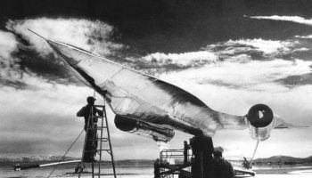 Area 51 plane crash cover-up picture an A-12 spy plane prototype is seen on the runway