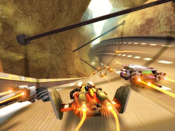 F4 presents Exalight, a free online futuristic racing game