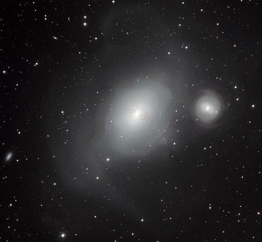 Galaxies NGC 1316 and 1317