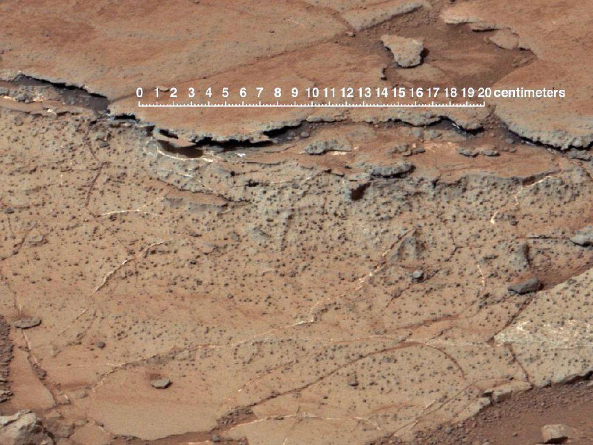 Curiosity rover image of Martian soil.