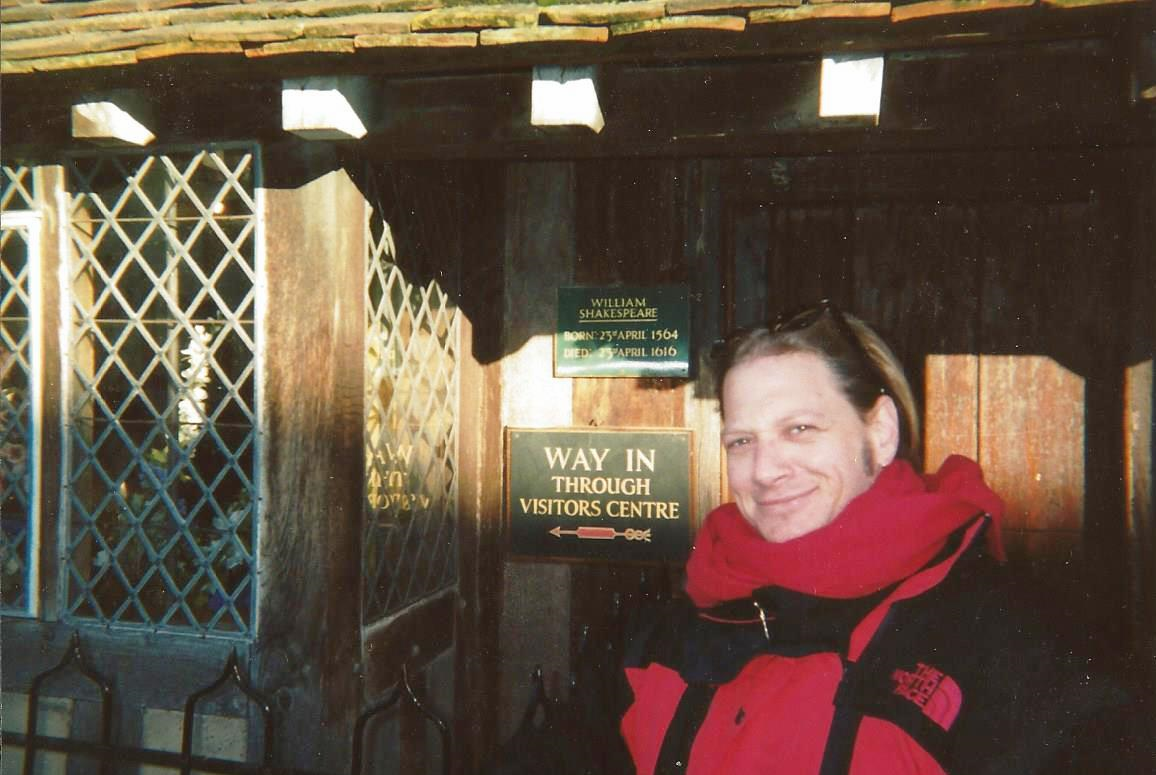 About to enter Shakespeare's Old Globe Theater in England - what actor wouldn't!