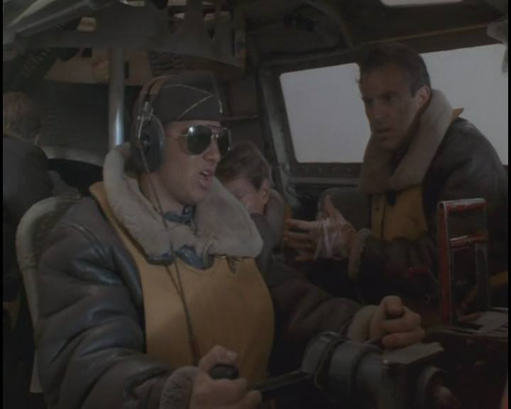 """J.J. Cohen and Kevin Costner - AMAZING STORIES' """"The Mission"""" directed by Steven Spielberg"""