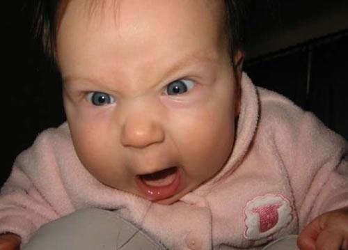 Angry Baby Meme Image