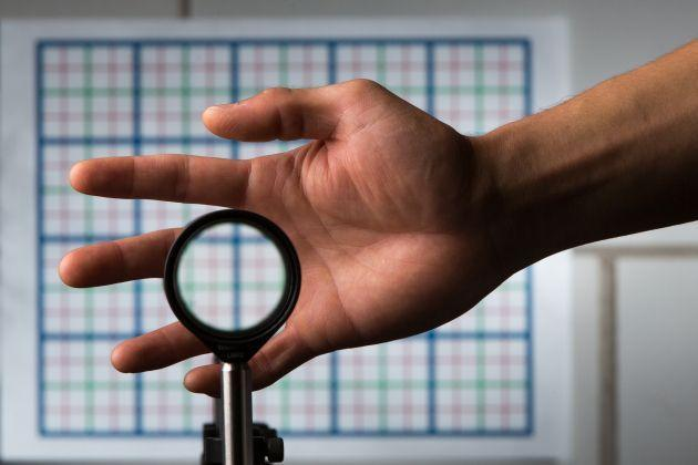 Cloaking Device Made With Off-the-Shelf Lenses