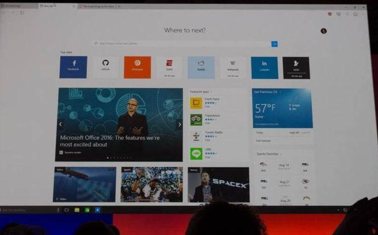 Microsoft Unveils Its Replacement For IE: Microsoft Edge