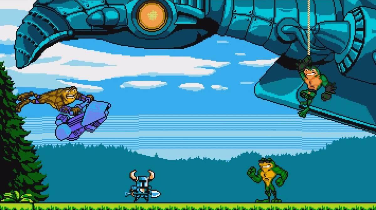 Shovel Knight's Battletoads Encounter In Full