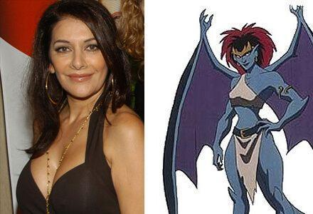 "Pictured above, Marina and Demona, the character she voiced on ""Gargoyles""."