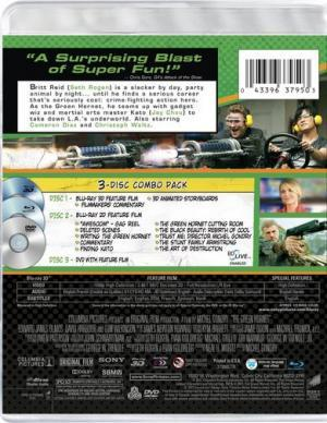 The Green Hornet Blu-ray Back