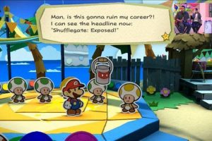 Nintendo Denies There's A Gamergate Reference In Paper Mario: Color Splash
