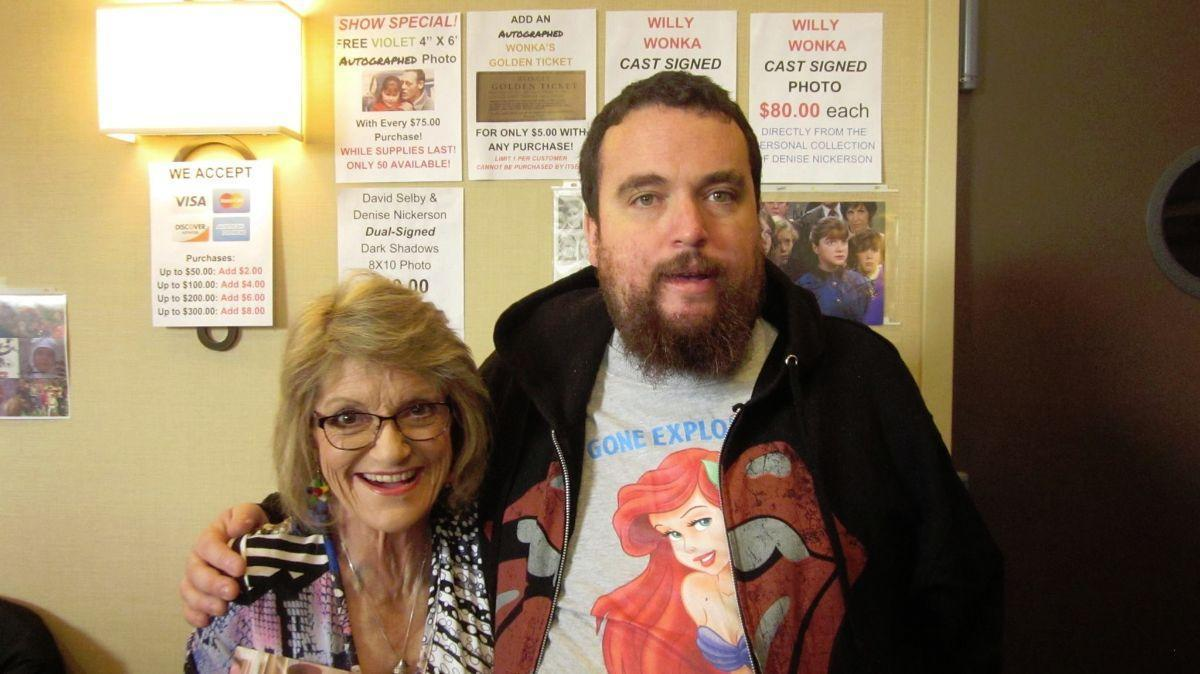 My 2016 convention outfit, as seen in this picture with Denise Nickerson from Willy Wonka And The Chocolate Factory.