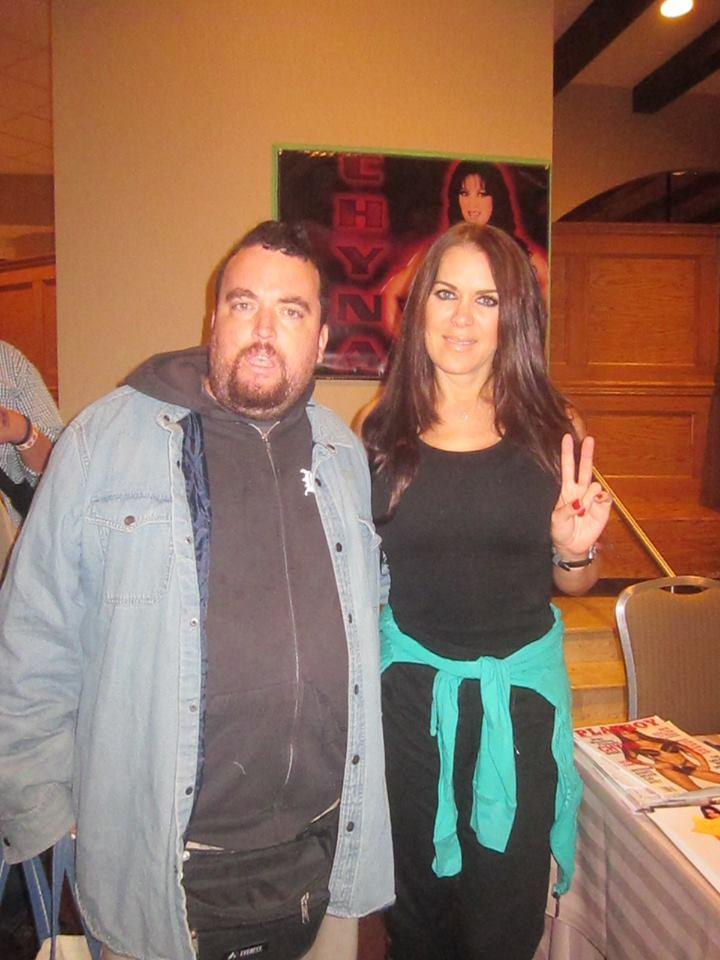 Johnny Caps with Chyna at Chiller Theatre in October of 2015...