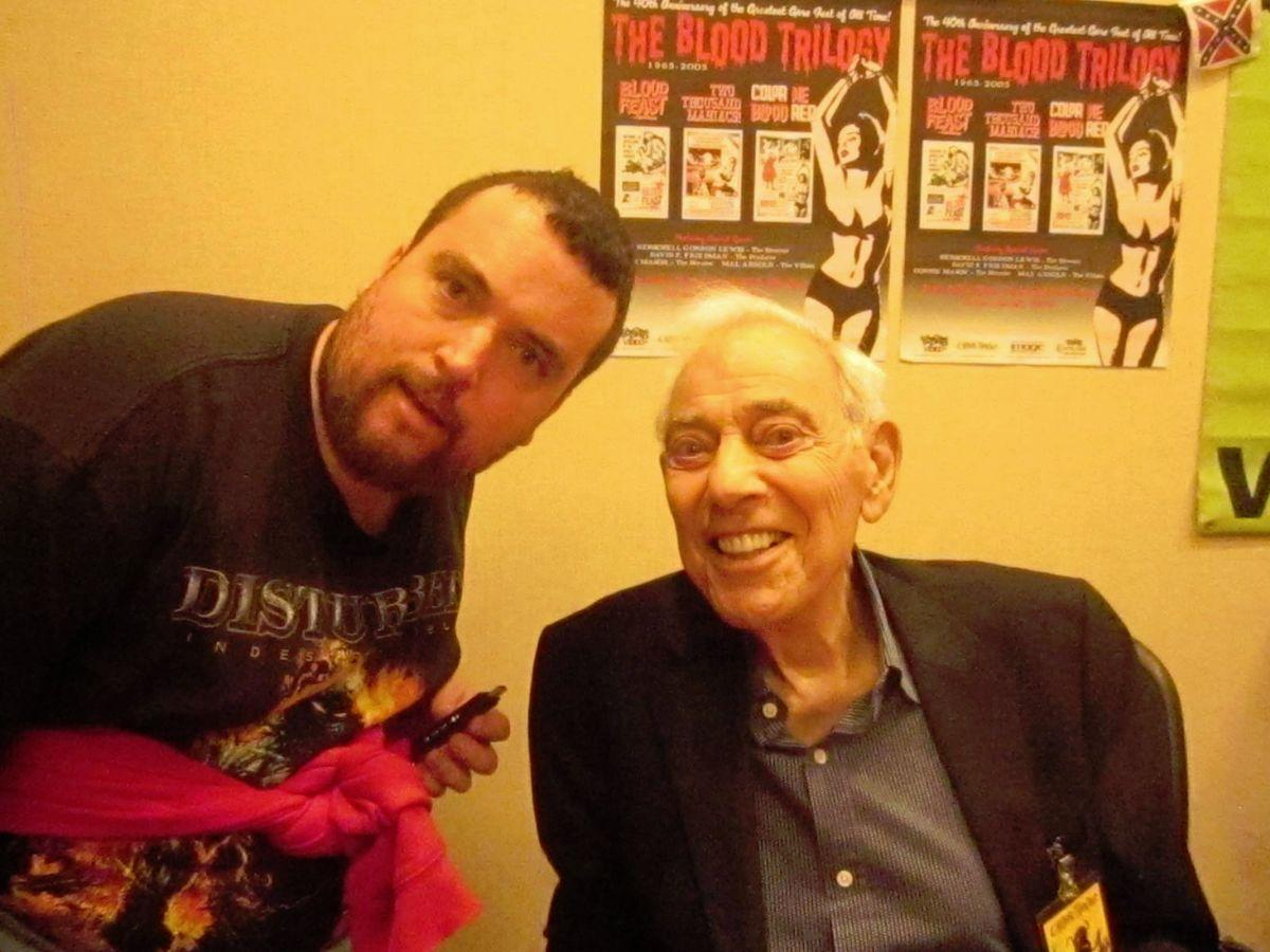 Johnny Caps and Herschell Gordon Lewis at Chiller Theatre in October of 2015...