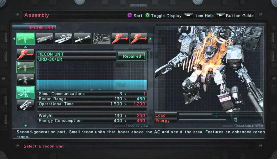 Armored Core V Customization Trailer
