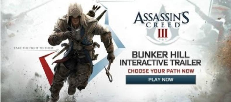 Checking Out the New Assassin's Creed 3 Interactive Trailer