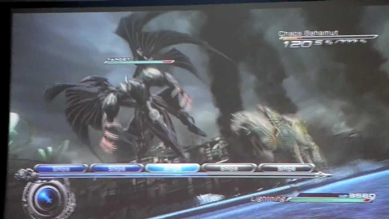 Final Fantasy XIII-2 Gameplay: lightning with odin vs