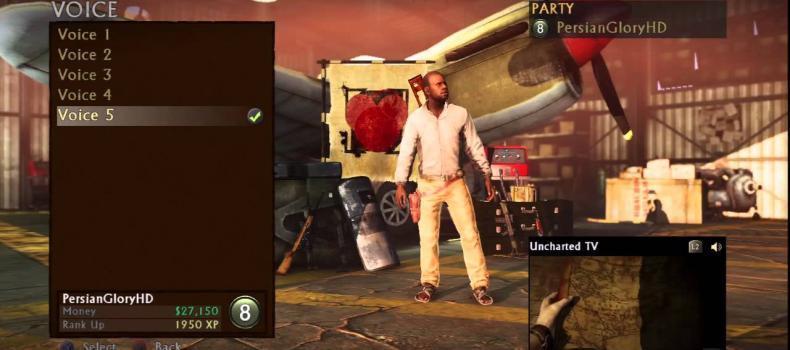 Uncharted 3: Menus (Online)