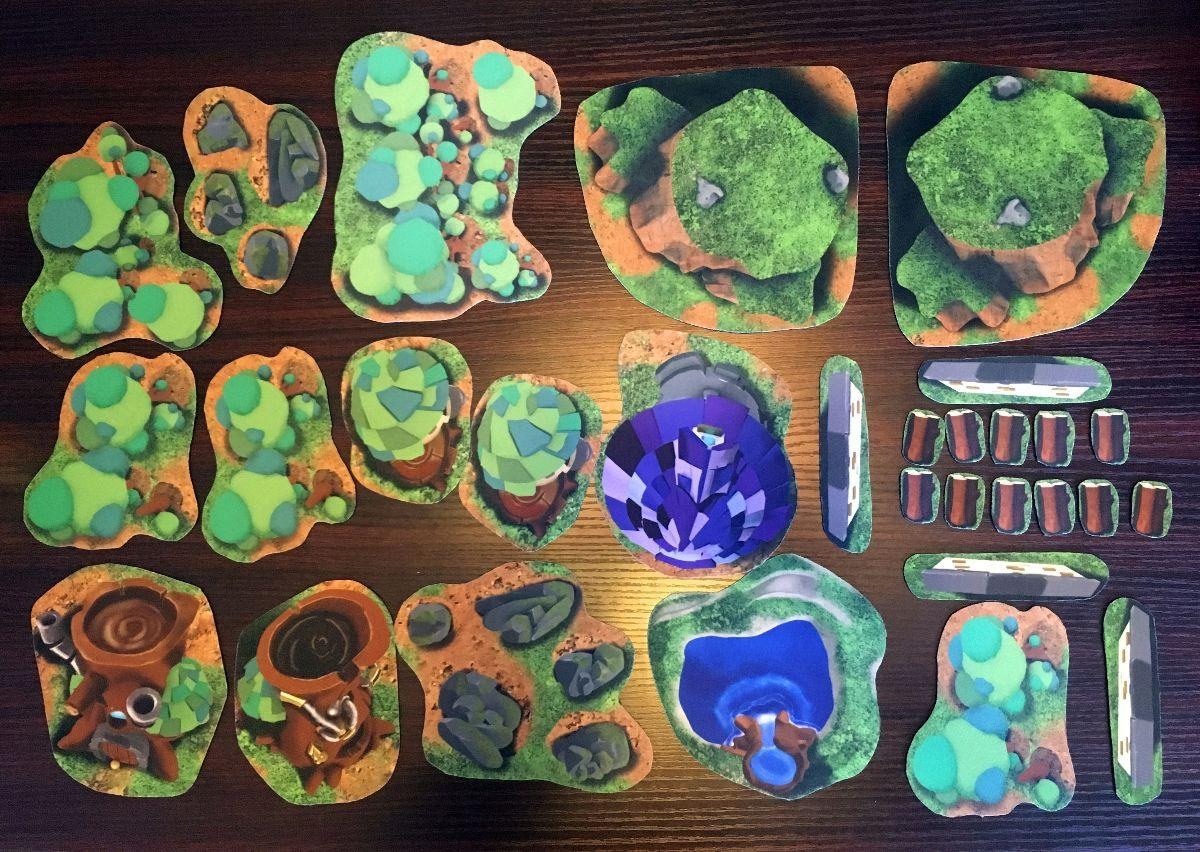 Dicey Ventures Earth and Arcane 2D Terrain Kit - All 30 Terrain Pieces