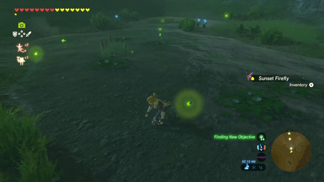 Sunset Fireflies in Breath of the Wild