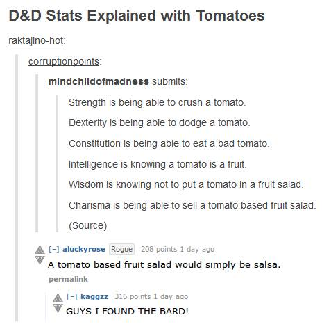 Ability Scores: What Are They and What Do They Do? D&D Stats Explained with Tomatoes