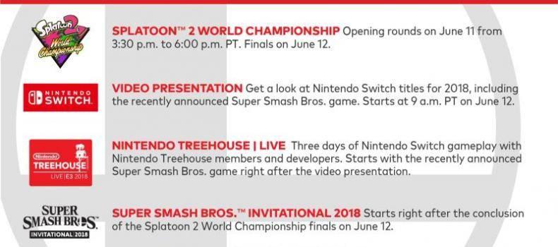 Nintendo's E3 Schedule Revealed