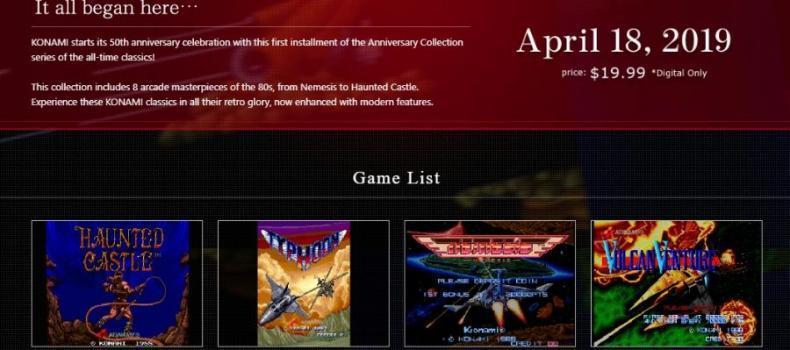 Konami Turns 50; Announces Anniversary Collection