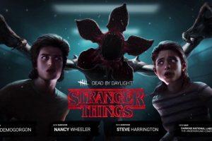 Steve Harrington, Nancy Wheeler and Demogorgon leaving Dead by Daylight