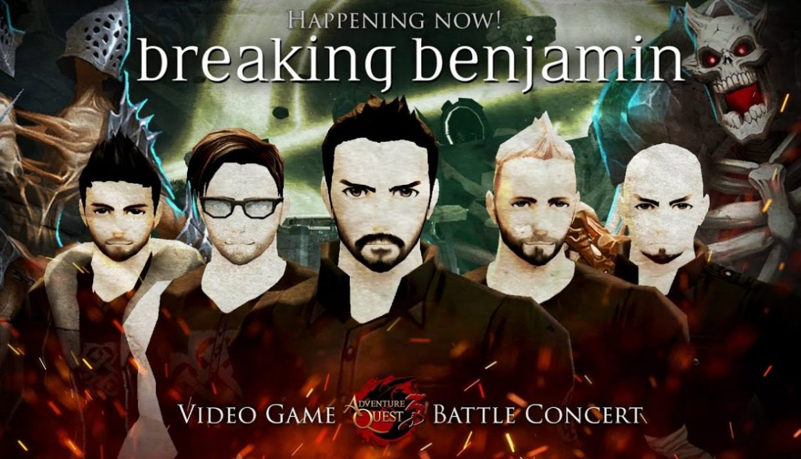 AdventureQuest Hosts Breaking Benjamin Battle Concert