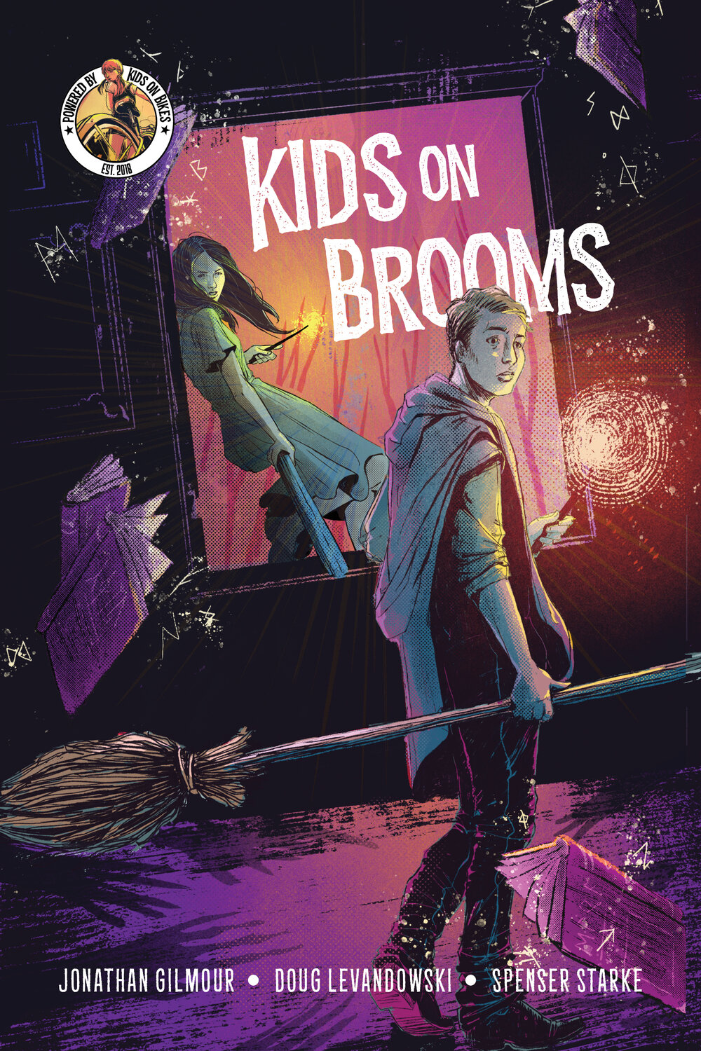 Kids on Brooms Cover Art